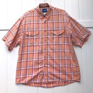 Wrangler Western Short Sleeve Button Down XL